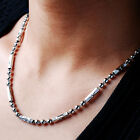 """Unusual Sterling Silver Super Men's Solid Bead Chain Necklace 4mm 20"""" 22"""" 24"""""""