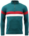 NEW MOD RETRO 60s 70s Vintage MENS SLIM FIT CYCLING TOP SHIRT MC137 TEAL