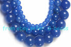 6MM 10MM 12MM 14MM ROUND BLUE AGATE BEADS STRAND 15""
