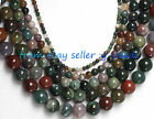4MM 8MM 16MM 20MM  ROUND INDIAN AGATE BEADS STRAND 15""
