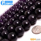 "Round Amethyst  Beads Jewelry Making Gemstone Loose Beads 15"" Free Shipping"