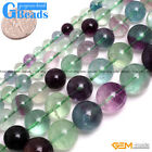 "Round Natural Fluorite Loose Beads Strand15"" Jewelry Making Beads 2-16mm Pick"