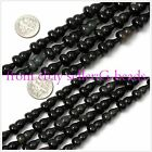 "fruit shape black obsidian gemstone loose beads strand 15""jewelery making beads"