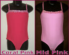 GIRLS TOGS Sz 4 or 6 - PINK GLITTER COSSIE / Gorgeous SWIMWEAR BATHERS - New