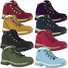 Womens Northwest Leather Walking Hiking WaterProof Boots Sizes 3 to 8 Blue Red