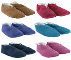 Moccasins Suede Fur Lined Womens Cosy Warm Slip On Slippers UK3-9