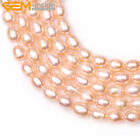 7-8x8-9mm egg potato white pink freshwater pearl jewelry making GEM beads 15""