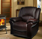 HomCom Recliner Faux Leather Chair Sofa Adjustable Bed Armchair Relaxing