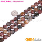 """jewelry making coin picasso jasper gemstone beads strand 15"""" seed-beauty"""