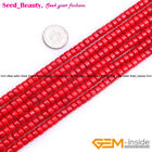 Jewelry Making pretty rondelle red coral  gemstone beads strand 15""