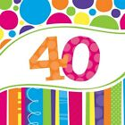 40th Birthday Napkins Balloons Invitations Banner Plates Cupcake Stand Cases etc