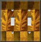 Light Switch Plate Cover - Fall Oak Leaves - Rustic Nature Home Decor