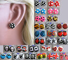 Fun STUDS Plastic Earrings Funky Design Hypoallergenic Ladies Girls Jewellery
