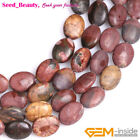 "jewelry making oval picasso jasper gemstone beads strand 15"" seed-beauty"