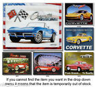 Nostalgic Tin Metal Signs - Chevy Chevrolet Corvette Sports Car #1 - Your Choice