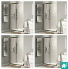 Modern Walk In Sliding Shower Enclosure Easy Clean Glass Screen Door Stone Tray