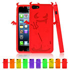 Silicone Devil & Angel Series Case Cover For Apple iPhone 5 5s & Screen Protecto