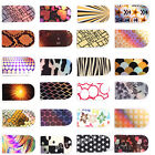Hot 16PCS Nail Art Foil Sticker Acrylic Decoration Tips Wraps Decal Adhesive New