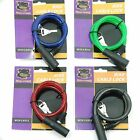 8mm x 500mm Cable Coil Bike Cycle Bicycle Lock 2 Keys Mean Machine Red Blue