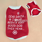 New High Quality Christmas Round collar Pet Dog Clothes T-shirt 4 Size DZ88