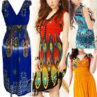 AU SELLER Boho Sexy Deep V-Neck Sleeveless Party Beach Dress/Bikini Cover dr140