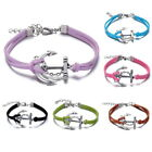 Wristband Hippy Anchor Friendship Karma Wish Hope Bracelet Cord BOHO Gifts