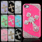 Luxury Hard Cover Case For iPhone 4G 4S Gold Sacred Cross Crafts Diamond Bling