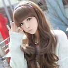 3 Colors Fashion Fluffy Womens Wig Long Wavy Curly Full Wigs With Fringe Hair