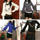 Women's Bottoming Shirt Turtle neck long sleeve knitting sweaters Tops Blouse