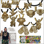 MD WOOD FELLAS THE SIMPSONS LTD VRAI BOIS COLLIER AVEC PENDETIF CHAÎNE COLLIER