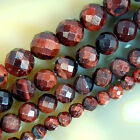 15inches Faceted Red Tiger Eye Round Gem Beads Pick Size 6,8,10,12mm