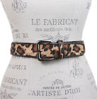 Ladies Patent Leather Animal Faux Fur Fashion Belt
