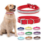 Luxury Diamante Band Rhinestone Crystal Bling PU Leather Dog Cat Pet Collar