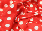 """60"""" wide Spotty Printed Satin Dress Fabric - Full Range of Colours"""