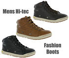 Mens Hi-Tec Sierra Mid Leather Casual Fashion Hi-Top Boots Trainers Size 7-13 UK