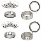 2 Cha-Cha Ring Bases Expandable Beadable Stretch Stainless Steel Bead Loops