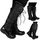 WOMENS LADIES BLACK LACE UP WARM WINTER SNOW RAIN FUR BOOTS SHOES SIZE 4 5 6 7 8