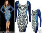 NEW LADIES WOMENS CELEBRITY LEOPARD ANIMAL PRINT BODYCON MIDI DRESS SIZE UK 6-16