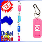 Keyring Key Ring Chain LOL WTF BFF LMAO Text Speak Silicone Pink Blue Aqua