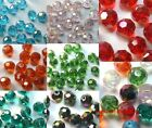 30pcs 6mm Rhinestone Crystal Faceted Ball Beads Spacer Findings