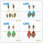 G-Beads Fashion Marquise bead Marcasite silver dangle stud hoop earring