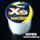 500M Nylon Line Mono Clear Super Strong X5 Sea Fishing Line From Japan