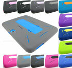 FOR SAMSUNG GALAXY TAB III 3/IV 4 RUGGED HYBRID ARMOR IMPACT CASE COVER+STYLUS