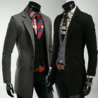 NEW Mens Premium Casual Design Long Jacket/suit jacket