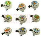 NEW Bicycle Animal Cartoon Bell  (10 Designs). 60mm, Steel Top & Base. For Kids