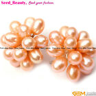 Fashion Jewelry  5-6x7-8mm freshwater pearl beads sterling silver stud earrings