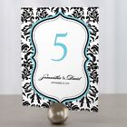 Personalized Love Bird Damask Wedding Table Numbers
