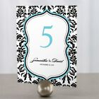 love bird chocolates - Personalized Love Bird Damask Wedding Table Numbers