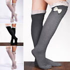 Cozy Crochet Lace Cotton Knit Knee High Winter Hosiery Socks Hearts Legs Warmers