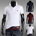 Men 's short-sleeved T - shirt fashion embroidery casual Slim short-sleeved